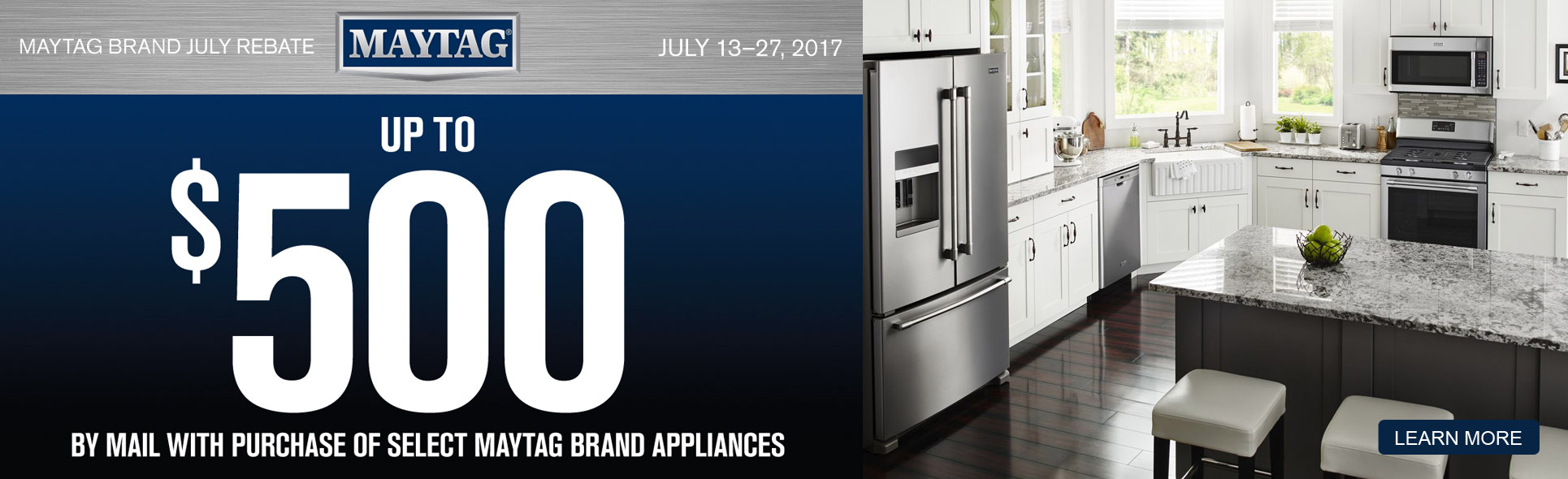 Maytag Rebate Savings- Save up to $500